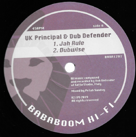 UK Principal & Dub Defender - Jah Rule / Dub / Ramon Judah - Babylon Judgement Fire  (Bababoom) 12""